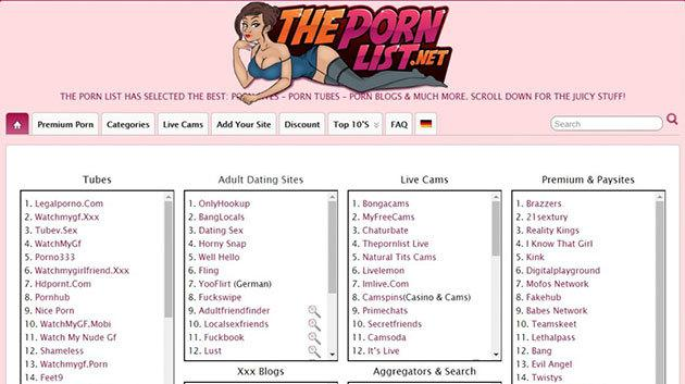 The Porn List